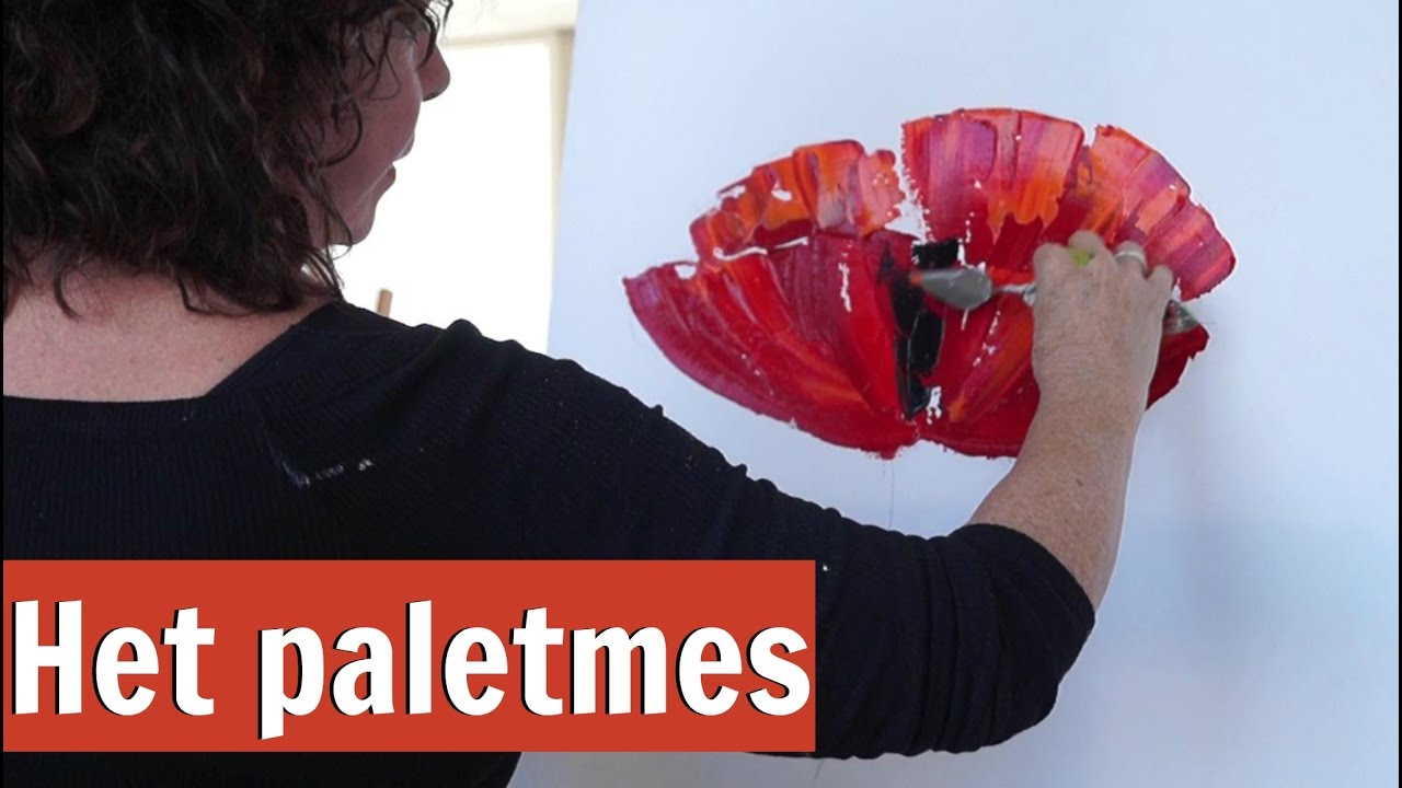 Fabulous Werken met het paletmes | VrolijkSchilderij - YouTube &DN26