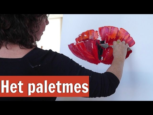 Werken met het paletmes || VrolijkSchilderij