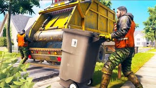 City trash truck simulator gameplay | garbage truck driving game screenshot 4
