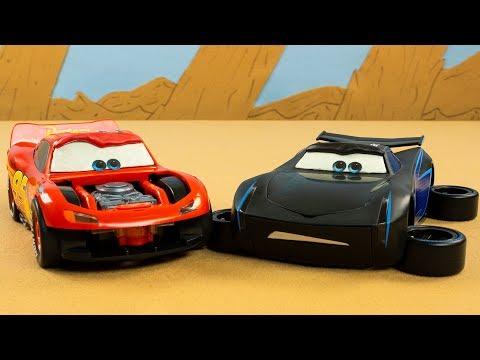 Building Lightning McQueen and Jackson Storm Cars 3 Kids Fun