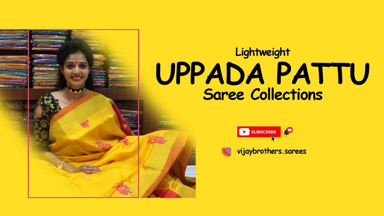 Uppada light weight pattu sarees collections  Vijaybrothers saree showroom  70933 70882,84640 27097.