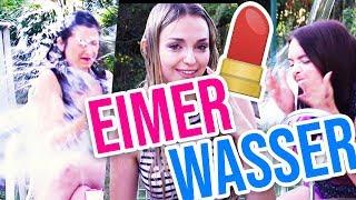 EIMER WASSER ÜBERN KOPF BEIM SCHMINKEN 😱 Make Up Challenge mit unlikely | XLAETA