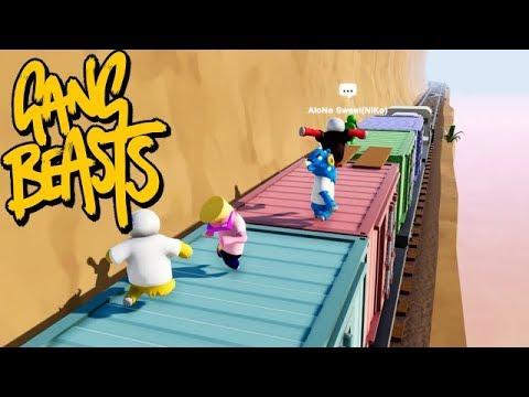 GANG BEASTS ONLINE - Train Ride [MELEE]