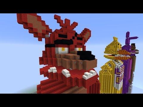 Minecraft FNAF Statue | Foxy Live Stream