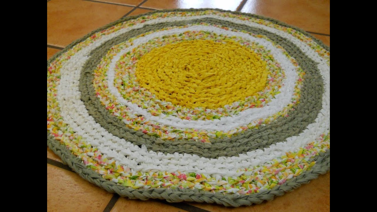 Learn The Formula To Make A Circle Crochet Rag Rug Part 1