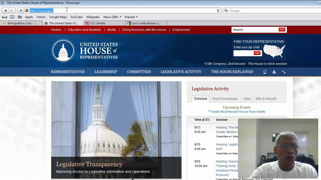 Contacting Members of Congress and USCIS Ombudsman for