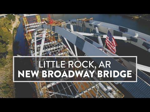 DRONE - Little Rock, AR - New Broadway Bridge