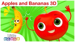Apples and Bananas 3D | Word Play | Kids Songs and Nursery Rhymes by Little Angel