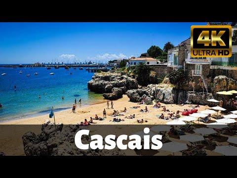 【4K】Post lockdown walking tour of beautiful Cascais - Portugal