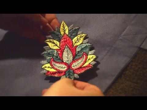 How to Iron an Iron-On Patch Tutorial (BlindCat Arts)