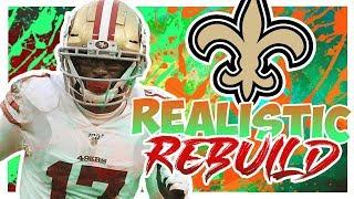 Emmanuel Sanders Saints Rebuild - Rebuilding The New Orleans Saints - Madden 20 Realistic Rebuild