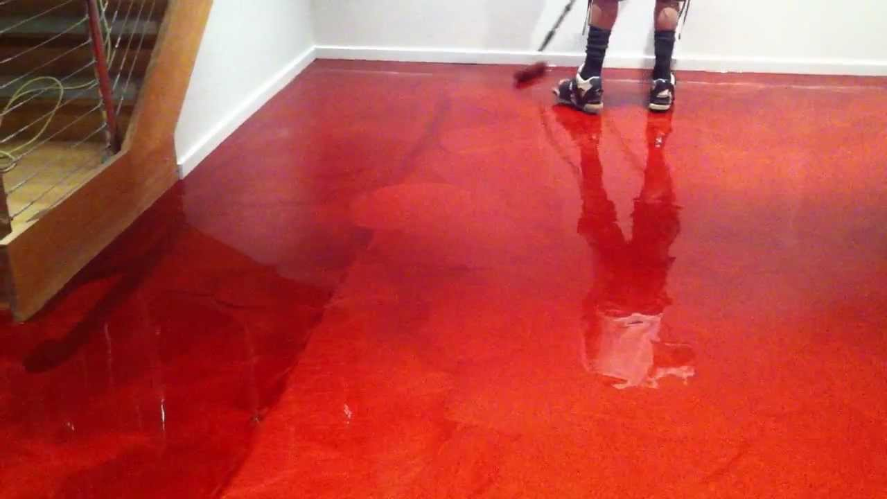 How To Roll Out Red Epoxy
