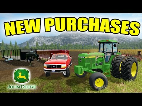 FARMING SIMULATOR 2017   NEW JOHN DEERE TRACTOR + GOOSENECK TRAILERS   EPISODE #3e