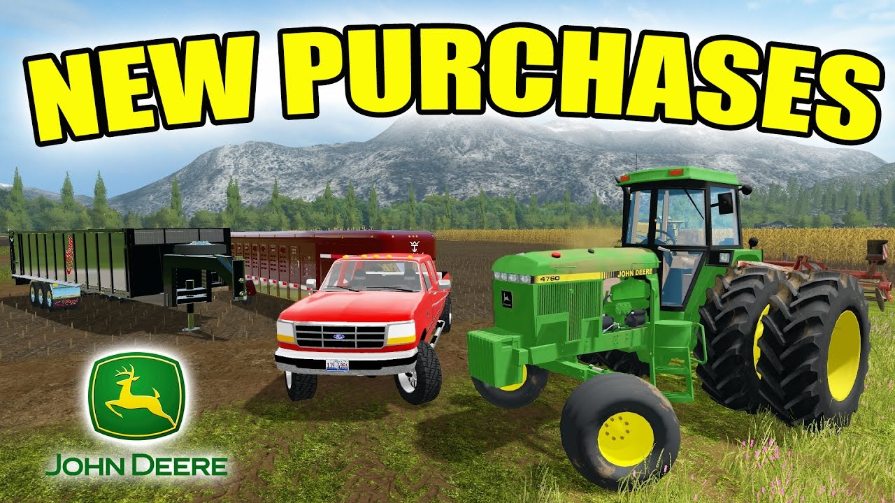 farming simulator 2017 how to buy tractrs