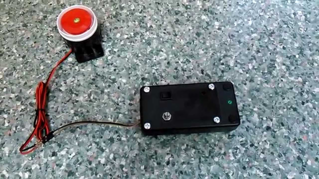 Motorcycle alarm system on arduino and accelerometer