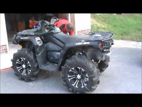 Can Am Outlander 2018 >> 2012 CanAm Fender Trim For Oversized Tires - YouTube