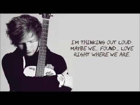 Thinking Out Loud by  Ed Sheeran (lyrics) (letra) download Karaoke