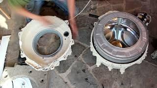 течет бак в стиральной машине INDESIT . Как отремонтировать?!