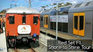 sydney trains vlog 1360 red set f1 shore to shire tour
