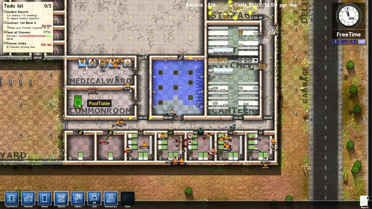 Prison architect fine i 39 ll put in cells youtube for Jail architect