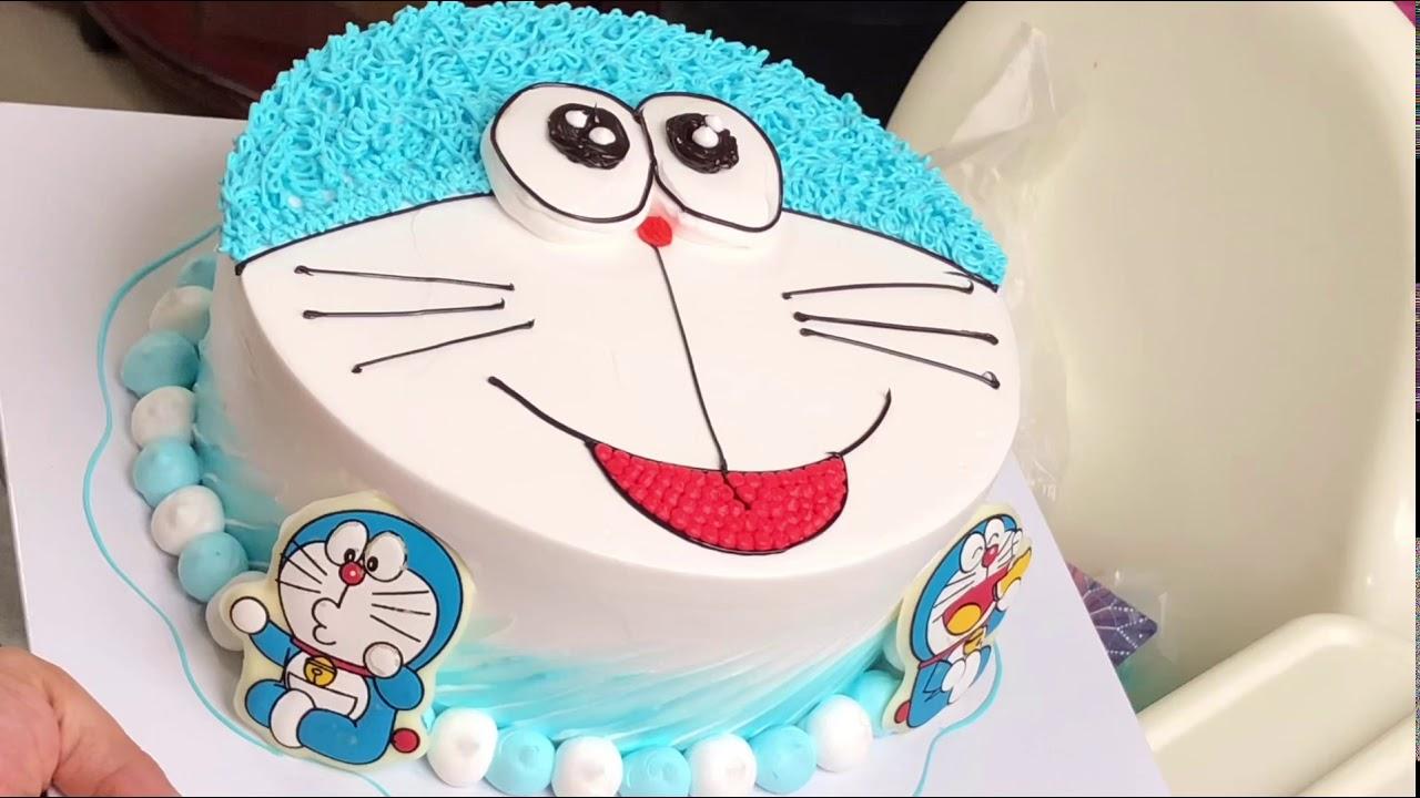 Cách làm bánh kem doremon đơn giản đẹp #3 – how make doremon birthday cake