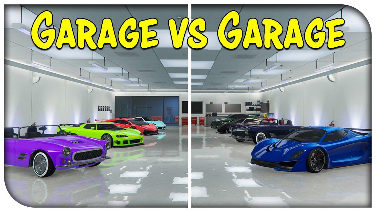 Gta 5 online the garage vs garage showdown ep 8 for Garajes gta v online