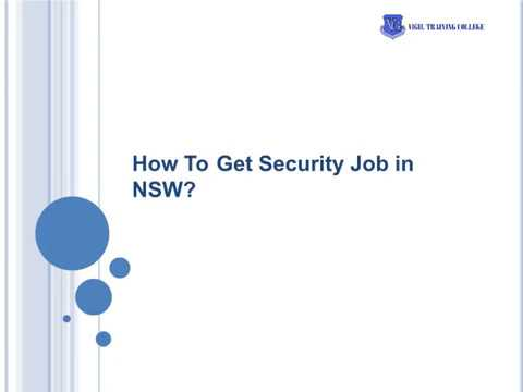 How To Get Security Job In NSW