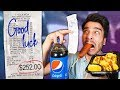 Letting Fast Food Employees DECIDE What i Eat for 24 HOURS! (IMPOSSIBLE FOOD CHALLENGE)