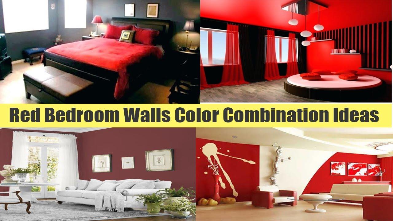 Red Black Walls Bedroom Red Bedroom Walls Color Combination Ideas Youtube