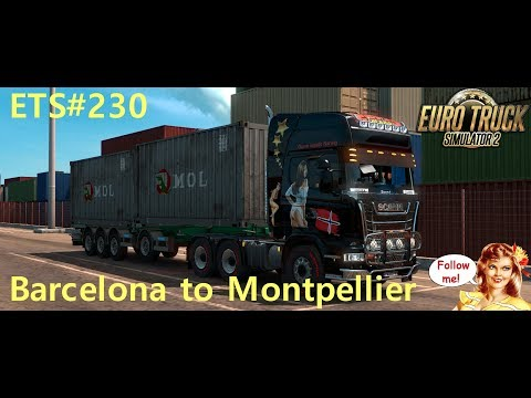 ETS#230  Transporting 12 Tons of Plastic Furniture from Barcelona to Montpellier 336 KM