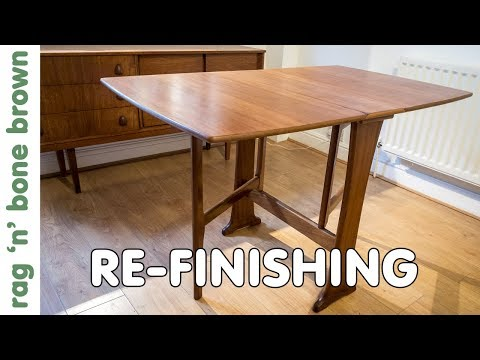 Re-finishing A Mid Century Dining Table - Restoration