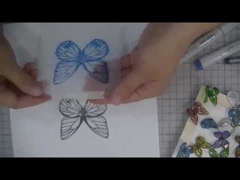 Copic ???????????? Butterfly Shrink Plastic