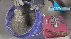 How To Mix Fast-Setting Concrete   DIY