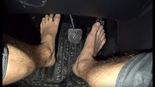 Cranking Pedal Pumping And Revving Barefoot 4x4 Stuck Spin Tires And Burnout Pedalcam Hairy Legs