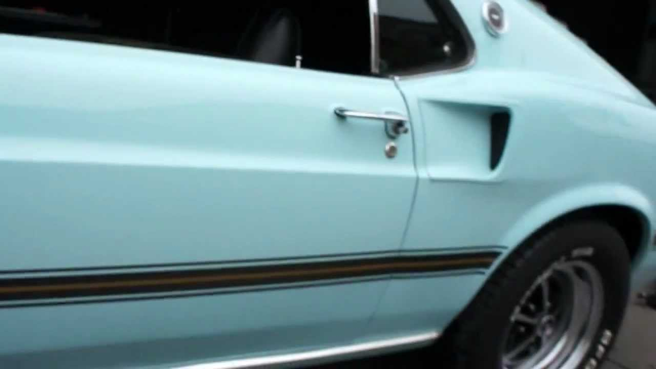 Power Stop Brakes >> 1969 Mustang Mach I Sportroof For Sale~Aztec Aqua~4 Speed~Air Conditioning~Power Steering ...