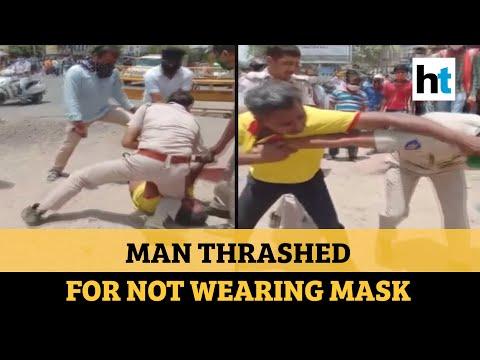 Watch: Jodhpur Cops Thrash & Kneel On Man's Neck For Not Wearing Mask