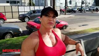 IFBB Pro Helle Trevino trains arms 5 days out