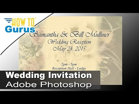 How to Design Wedding Invitation Cards in Adobe Photoshop CS5 CS6 – Invitation Card Design Wedding