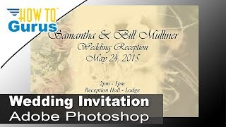 How to Design Wedding Invitation Cards in Adobe Photoshop CC CS6 CS5 Tutorial