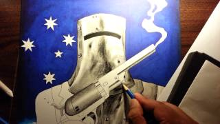How to draw Ned Kelly 4