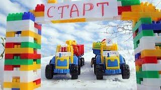 Гонки на тракторах. Мультик для детей.