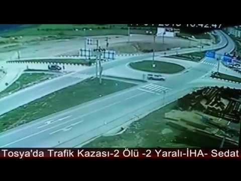 TOSYA'DA TRAFİK KAZASI ANI