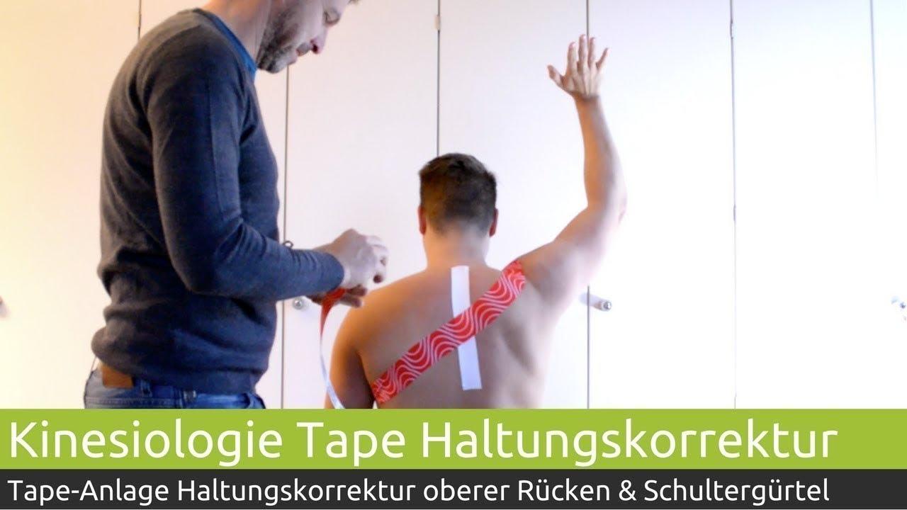 Haltungskorrektur Schultergürtel & oberer Rücken mit PINOTAPE ...
