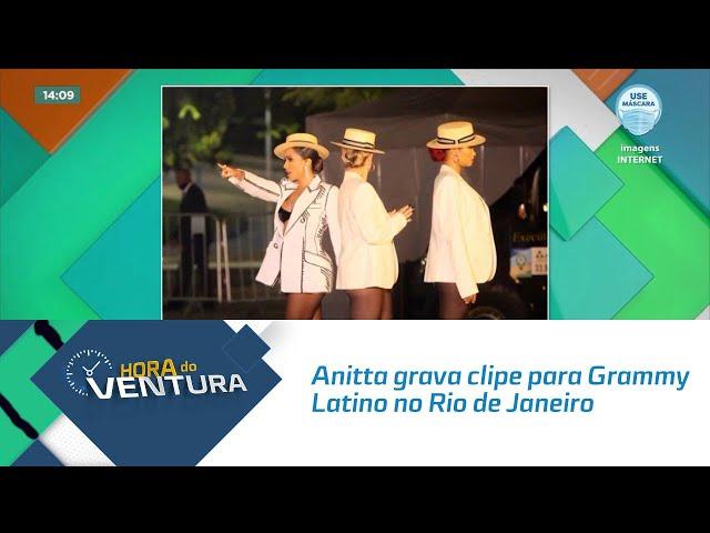 Anitta grava clipe para Grammy Latino no Rio de Janeiro