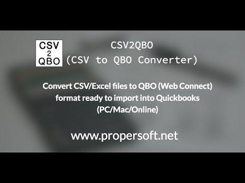 CSV2QBO for Mac free download version 3 3 0 - DownloadPipe