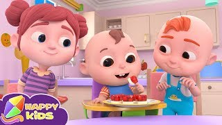 Yes Yes Table Manners Song | HappyKidsTV Nursery Rhymes and Kids Songs