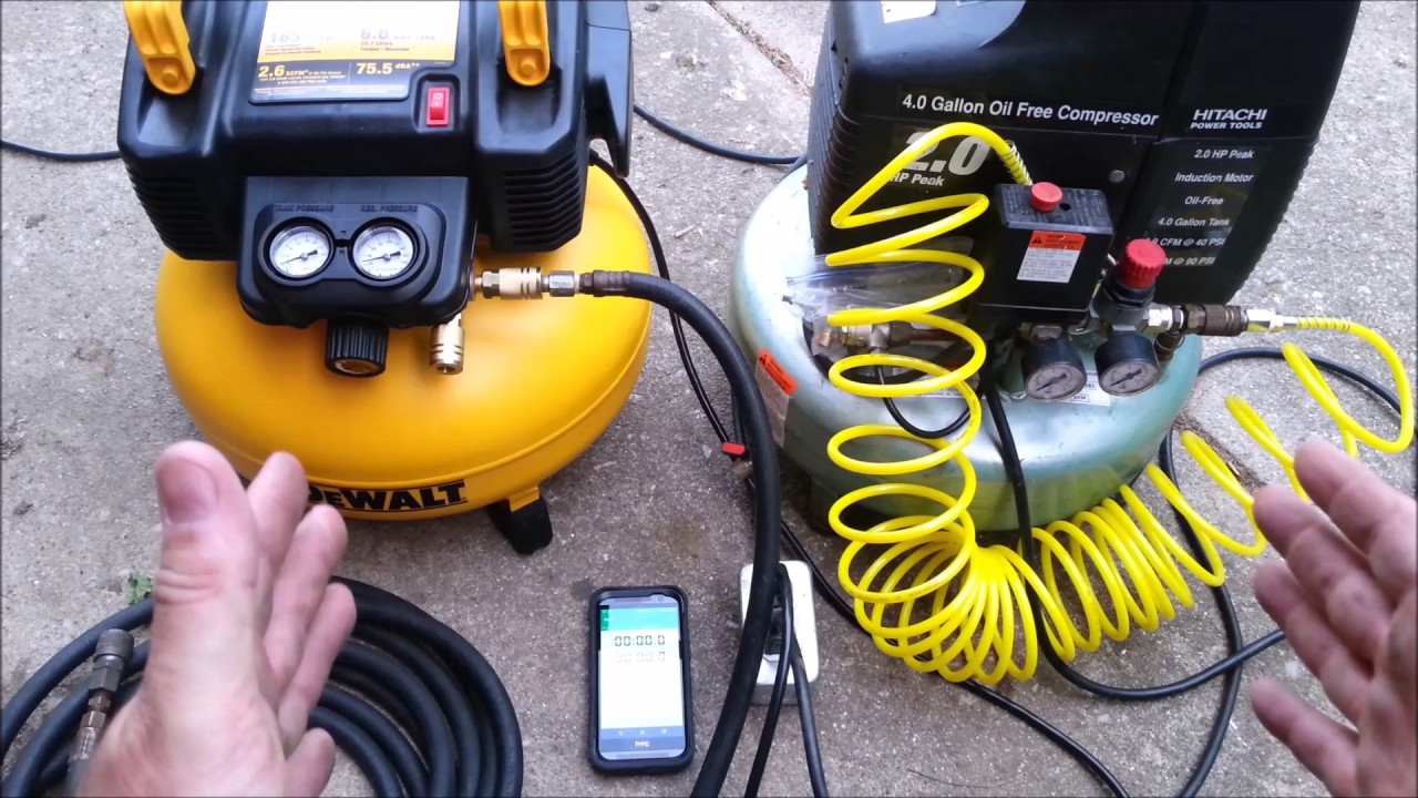 hitachi pancake air compressor. new dewalt vs old hitachi pancake compressor crafted channel air h