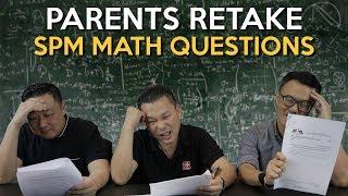 Malaysian Parents Retake SPM Math Questions