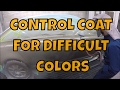 PPG CONTROL COAT TIPS FOR DIFFICULT COLORS