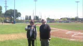 David Freiberg (Jefferson Starship) & Linda Imperal sing anthem @SRPacifics